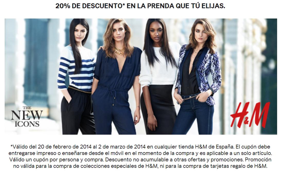 20% descuento en H&M