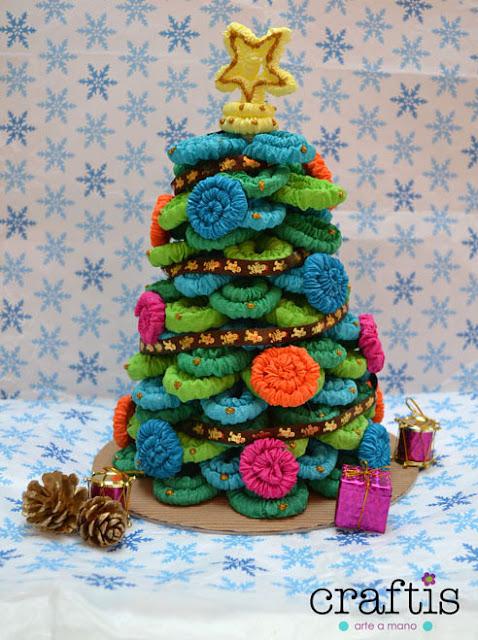 Navidad, arbolito de navidad, como hacer un arbolito de navidad, como hacer un arbolito de navidad de papel, manualidades navideñas