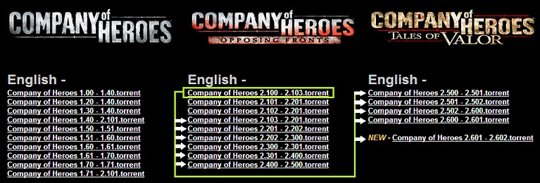 Company Of Heroes Patch 2.201 To