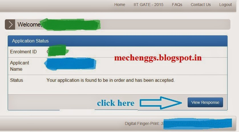 GATE 2015 score