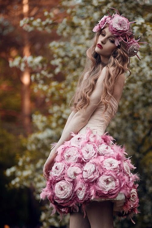 ♔ pink sweetness - pink flower dress romantic and adorable - great pic!