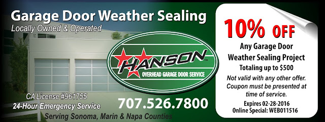 Weather sealing your garage door in preparation for a strong El Nino