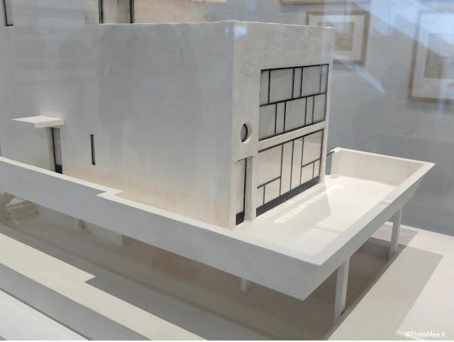 Maquette villa celule d'habitation Expo le Corbusier Mesure de l'Homme Beaubourg centre George Pompidou architecture design urbanisme