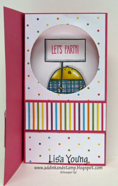 Stampin' Up! Cheerful Critters Pop Up Diorama Card. Birthday card. Tutorial  link on Add Ink and Stamp