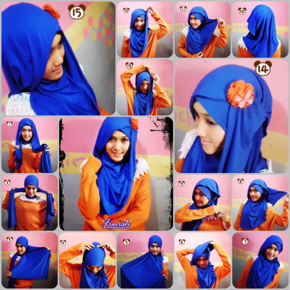 Tutorial Hijab Modern Paris Pesta