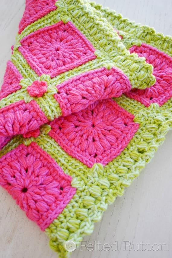 Felted Button Colorful Crochet Patterns Melon Berry Rug Crochet