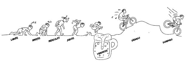 montar en bici los fines de semana