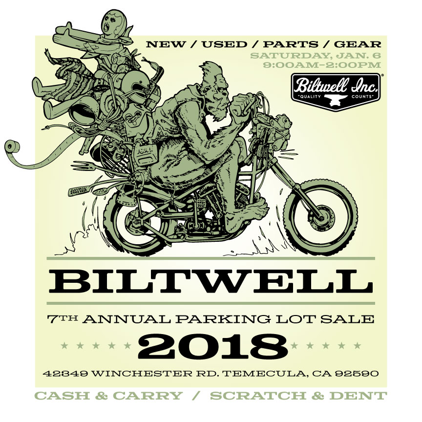 Biltwell's Parking Lot Sale