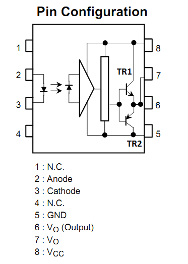 Tahmids blog using the tlp250 isolated mosfet driver explanation before delving any further lets look at the pin configuration and the truth table ccuart Choice Image