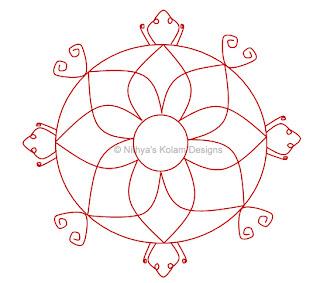 4 Navagraha Kolam | Kethu Bhagavan | Saturday
