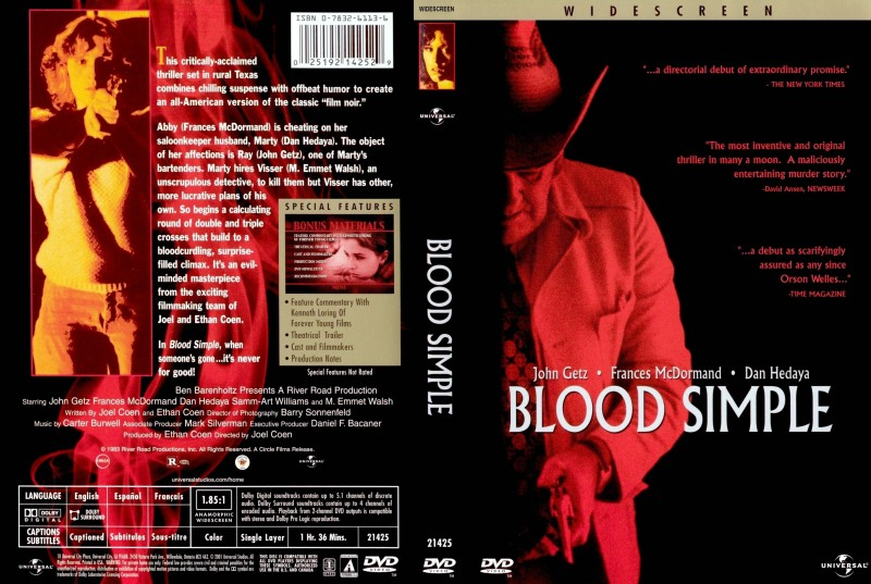 an analysis of the film blood simple Blood simple (1984) on imdb: plot summary, synopsis, and more.