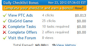 how to earn with clixsense checklist bonus