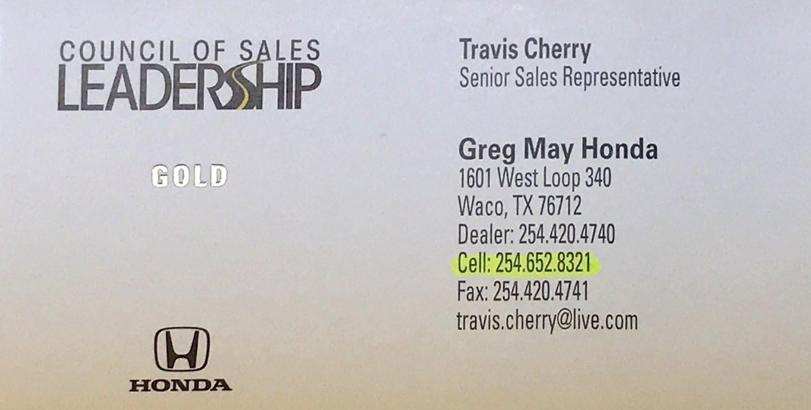 Travis Cherry (Senior Sales Representative)