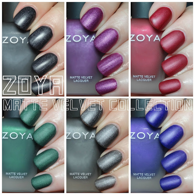 Zoya Matte Velvet Collection Swatches & Review