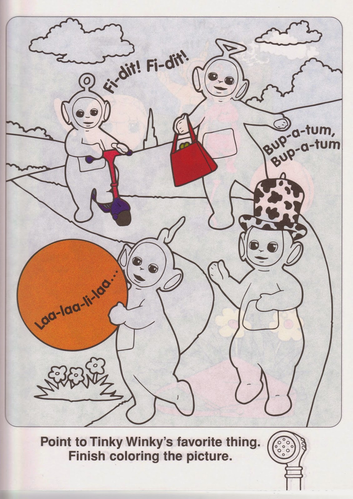 Tinky Winky Coloring Pages Ponder Why Tinky Winky is