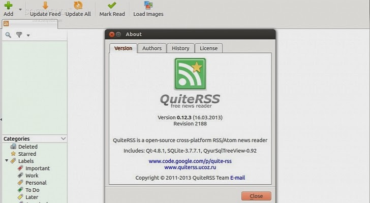QuiteRSS, a good replacement for Google Reader