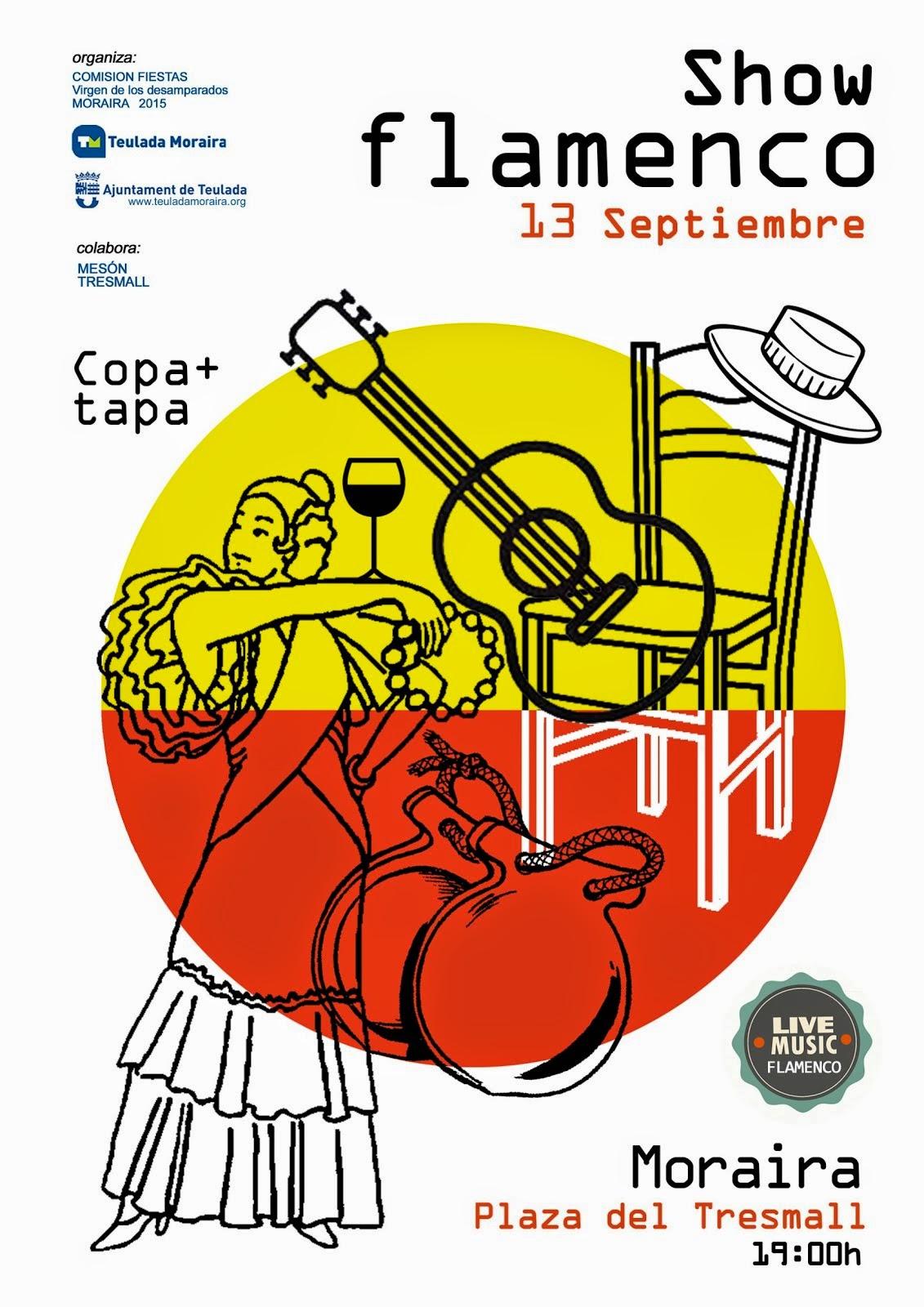 Cartel fiesta flamenca