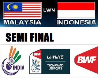 Langsung malaysia vs indonesia separuh akhir piala thomas 23 mei 2014