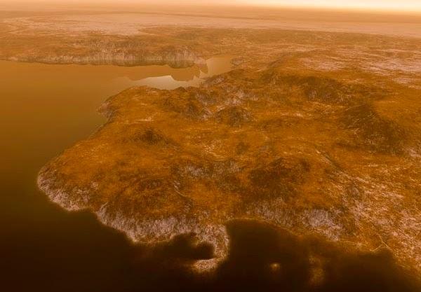 Lagos de metano tropicales en Titán