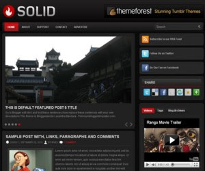 Solid Blogger Template