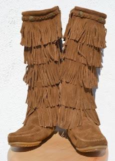 Minnetonka Five-Layer Fringe Boots