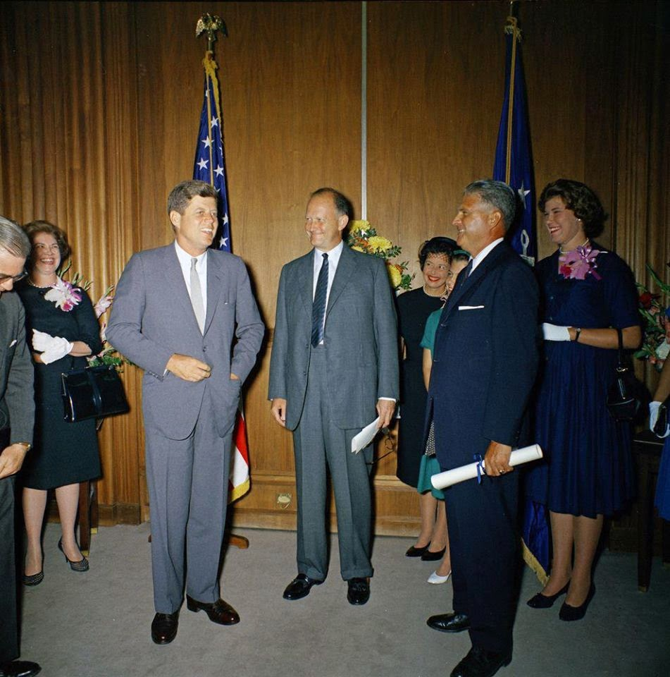 Chief James J Rowley: swearing in ceremony 9/1/61 with JFK