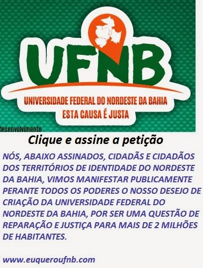 Queremos UFNB na região de Inhambupe