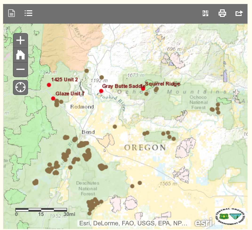 Wildfire In The West Interactive Map Shows Controlled Burn Plans
