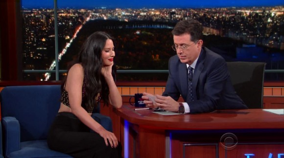 Stephen Colbert (Jan 14, 2016) – Olivia Munn, T.J. Miller, Father John Misty