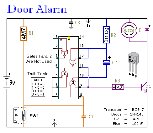Simple Door Alarm circuit