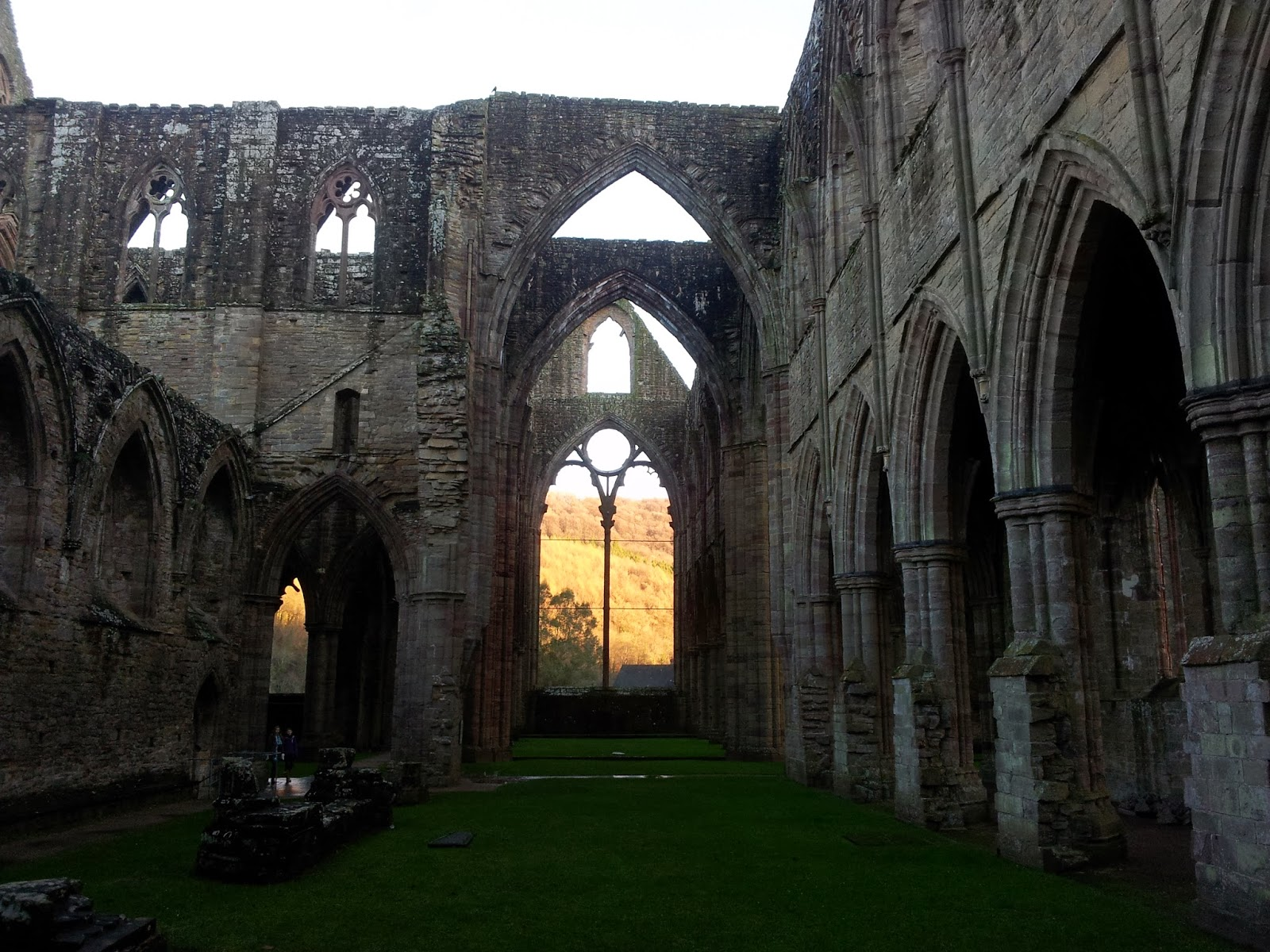 View from inside Tintern Abbey