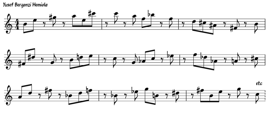 Jazz Rhythm Exercise Hemiola