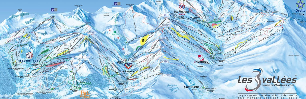 Map of Les 3 Vallées - France