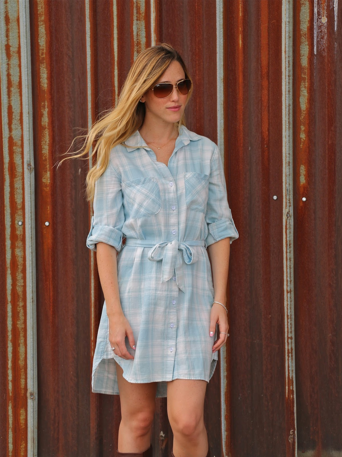 anthropologie plaid shirt dress