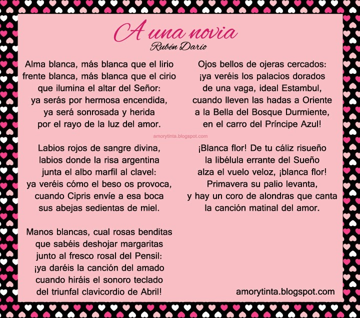 Poema: A una novia (Rubén Darío)
