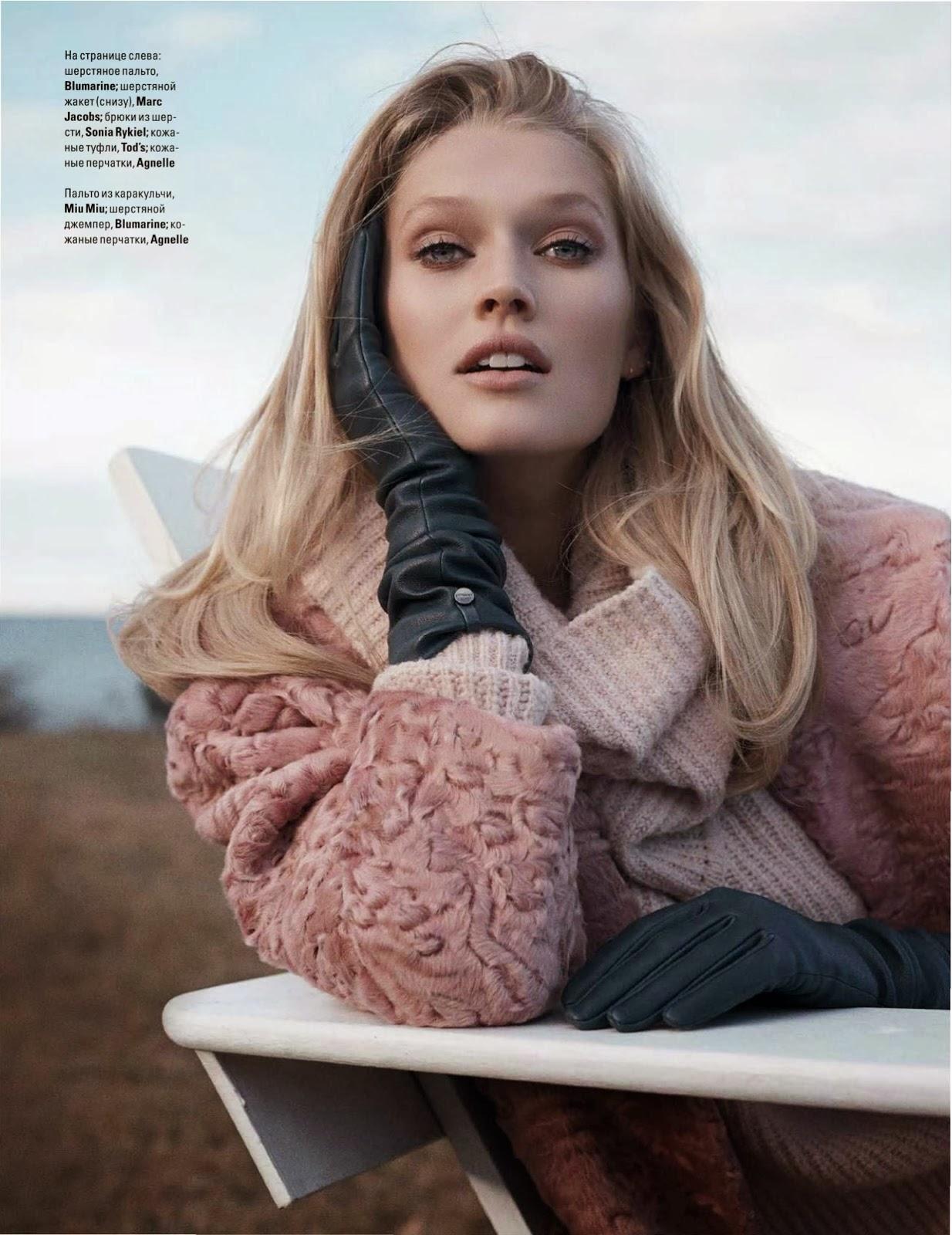 Magazine Photoshoot : Toni Garrn Photoshot For Benny Horne Vogue Magazine Ukraine January 2014 Issue