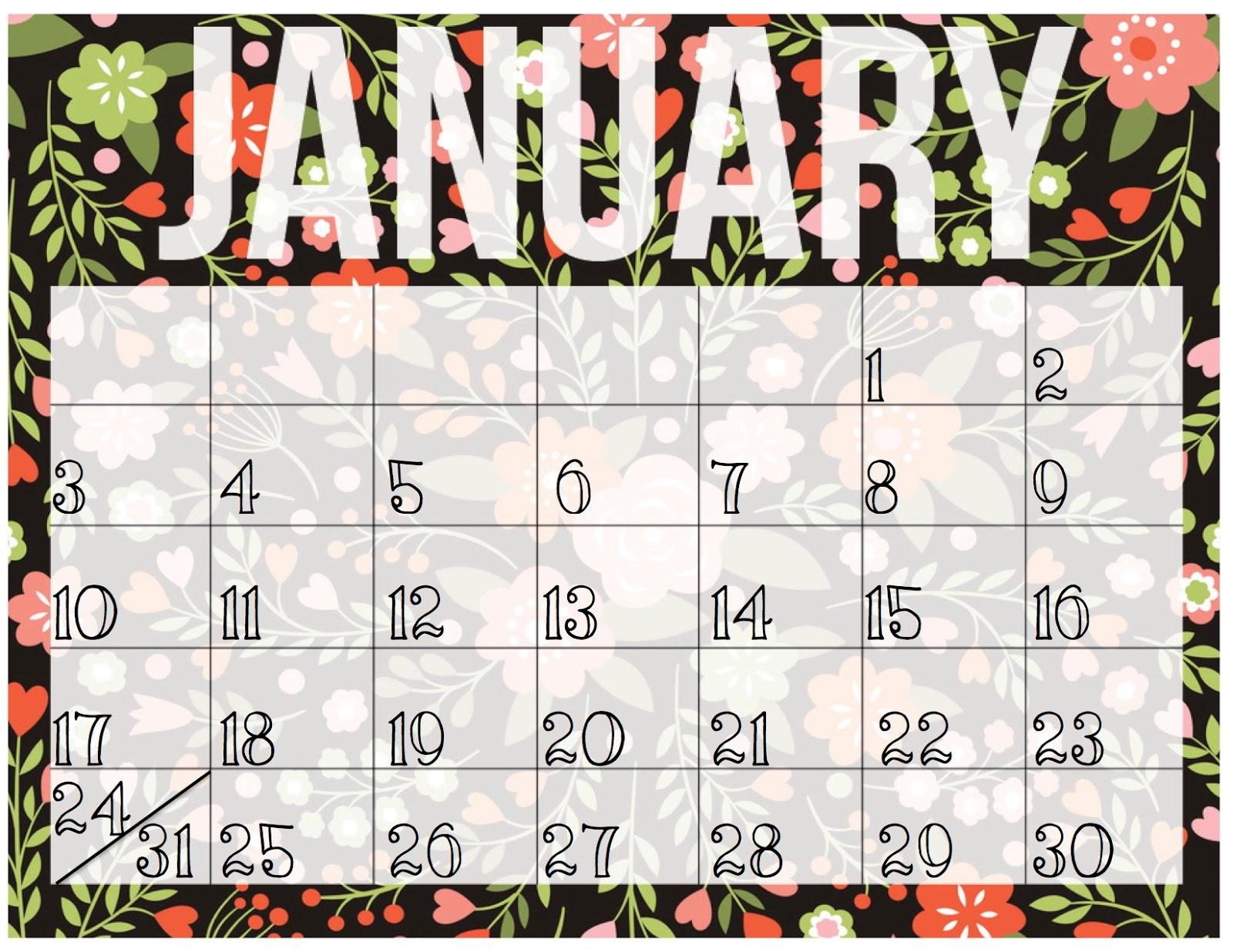 June Calendar Girl Book : Pretty big things june