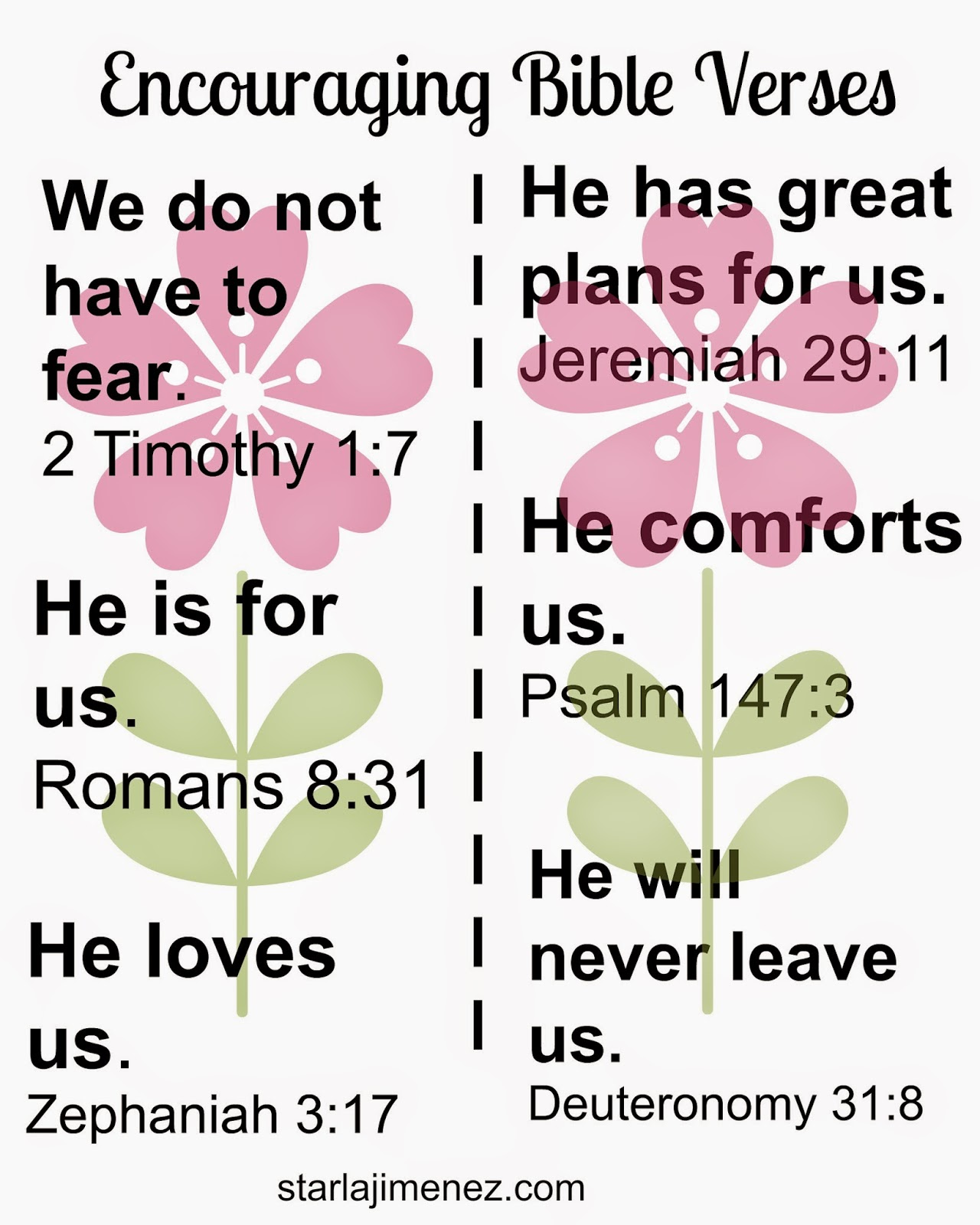 Free Printable. Encouraging Bible Verses.