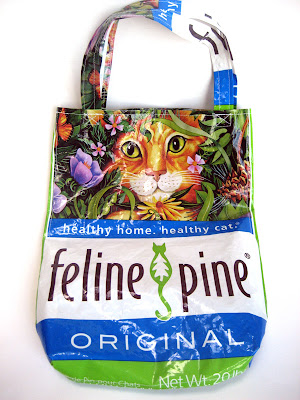 re-usable bag from kitty litter sack