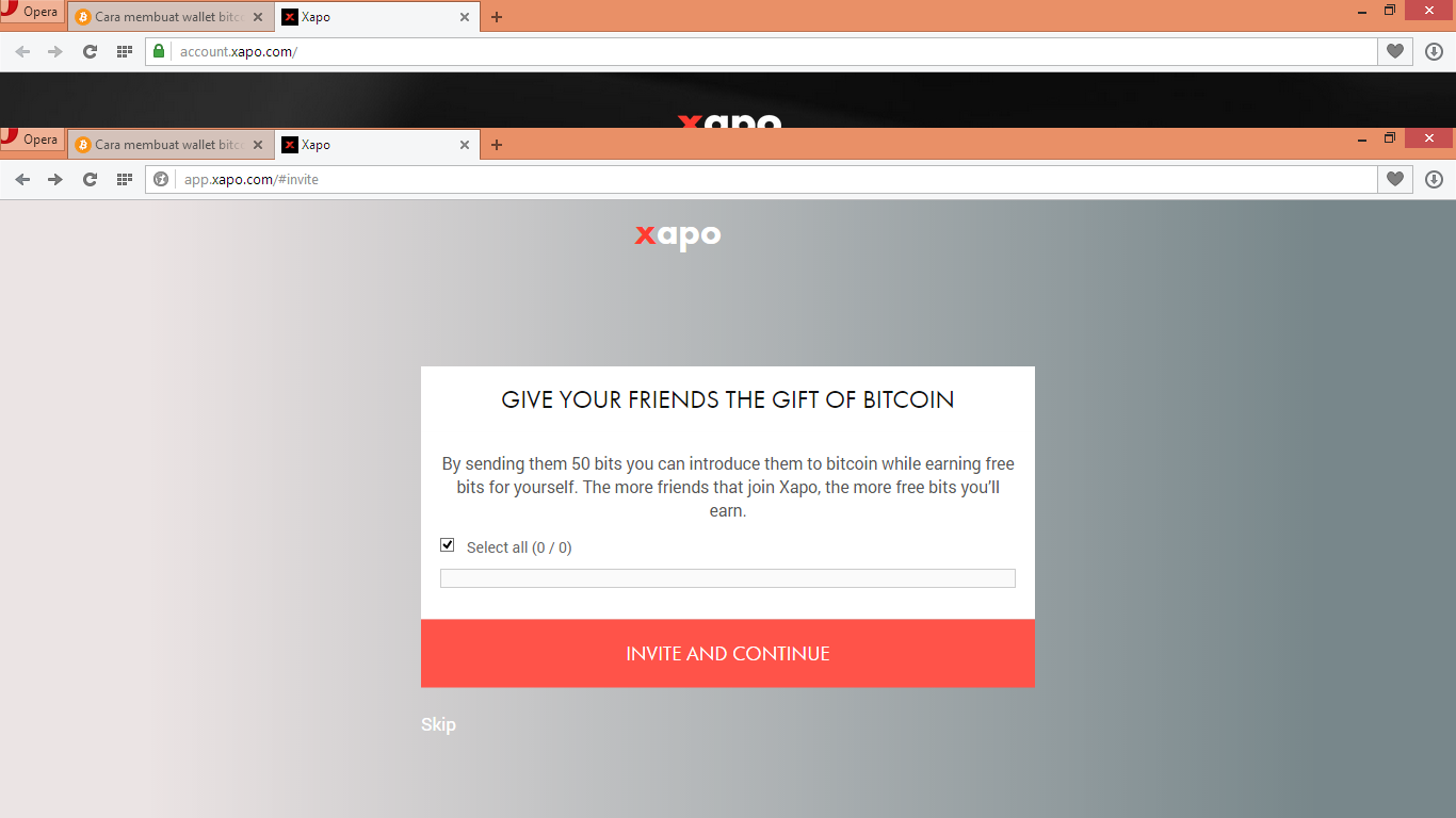 how to send bitcoin to xapo