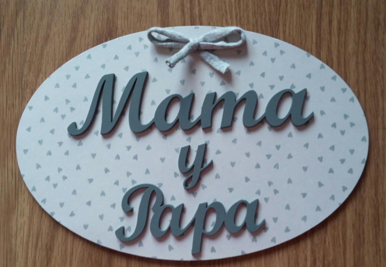 Placa de madera de mam y pap evyre - Placa de madera ...
