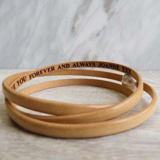 Ma Bicyclette - Buy Handmade - Valentine's Gifts For Men - Gracie Collins - Personalised Leather Bracelet