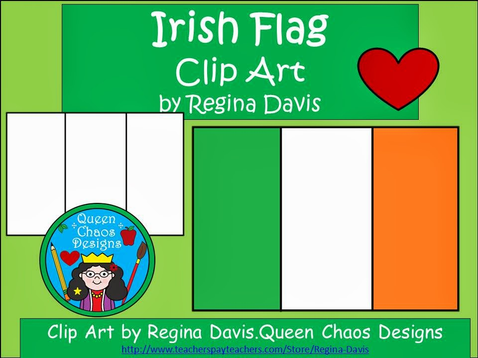 http://www.teacherspayteachers.com/Product/A-FREEBIE-Irish-Flag-For-St-Patricks-Day-Clip-Art-1162603