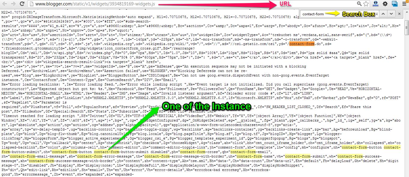 blogger's javascript file