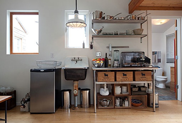 This Mini Fridge Is An Obvious Space Saver, But I Love The Look Of The  Baskets (crates?) Under The Counter. I Donu0027t Think This Is Used As The  Full, ...