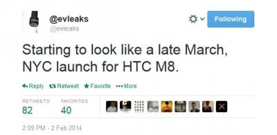 HTC M8 Akan Dirilis Maret?