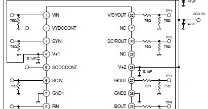 Simple 4 channel video amplifier using njm2582 circuit schematic learn ccuart Gallery