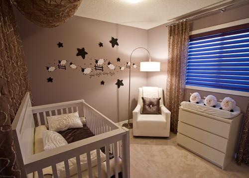 Habitaciones con estilo dormitorios de beb en colores tierra - Dormitorios para bebe ...