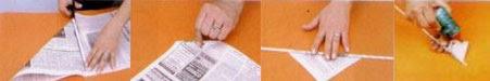 Como fazer canudos de jornal - passo a passo