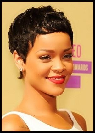 Tunsori 2013 pentru par scurt, Rihanna